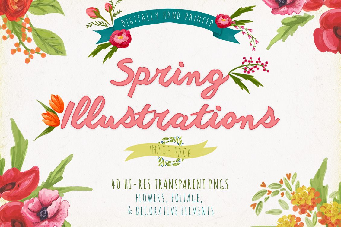 Spring Illustrations example image 1