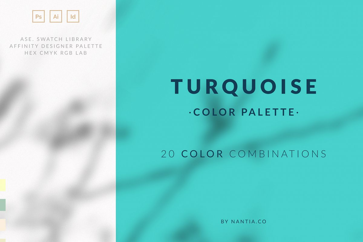 Turquoise color palette example image 1