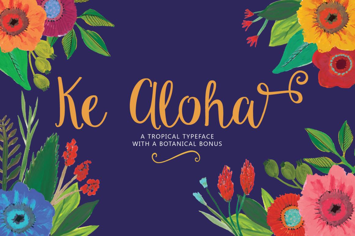 Ke Aloha Script + Tropical Bonus example image 1