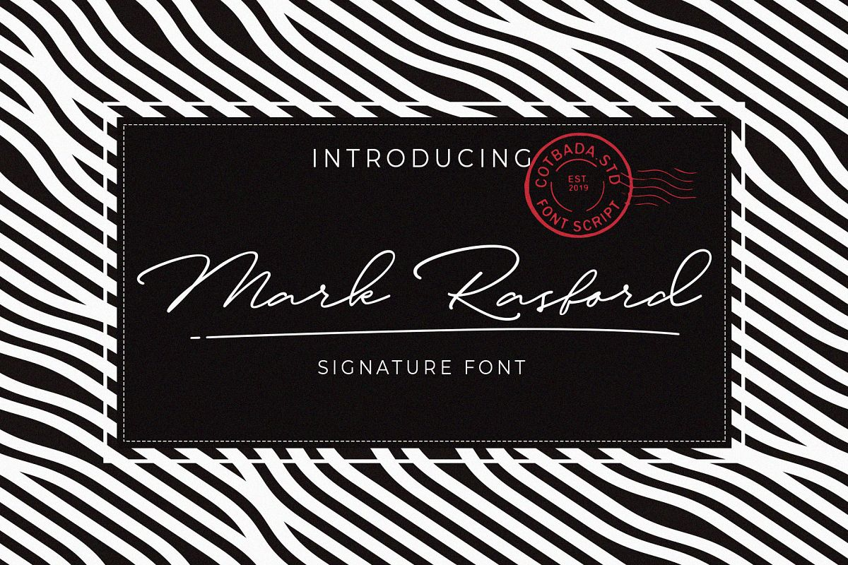 Mark Rasford Signature Font Script example image 1
