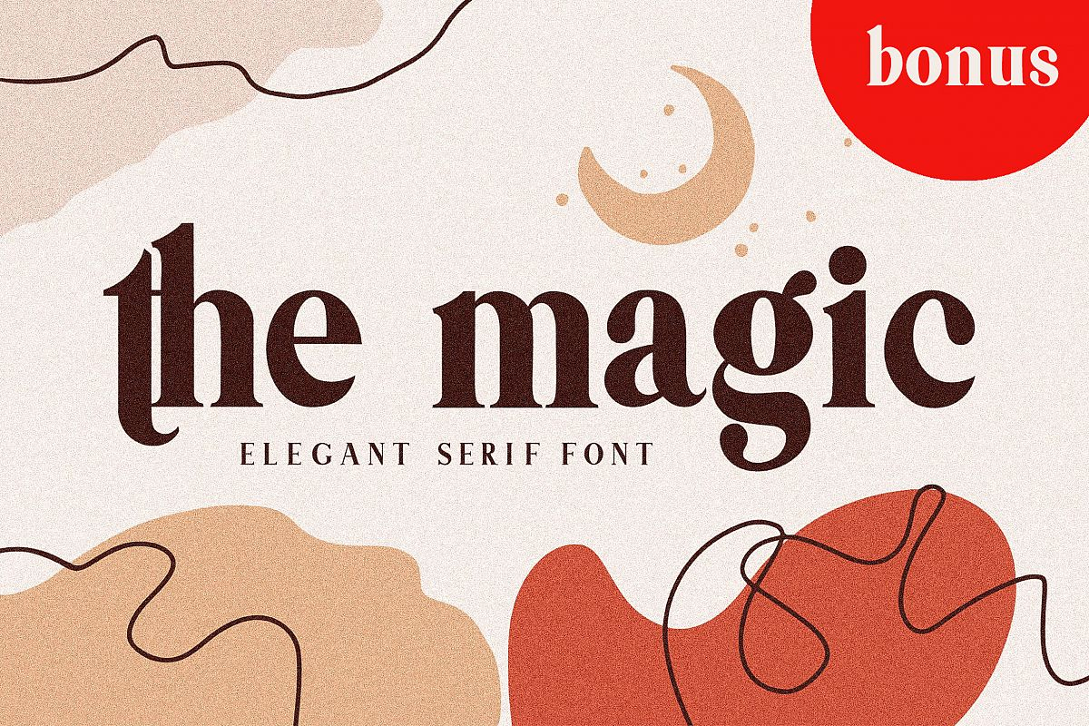 Themagic Serif Font plus Bonus example image 1
