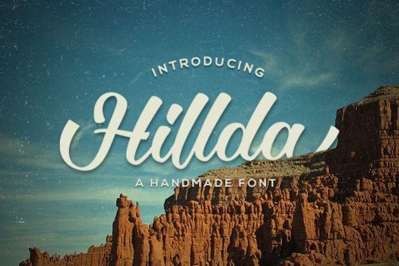 Hillda Script example image 1