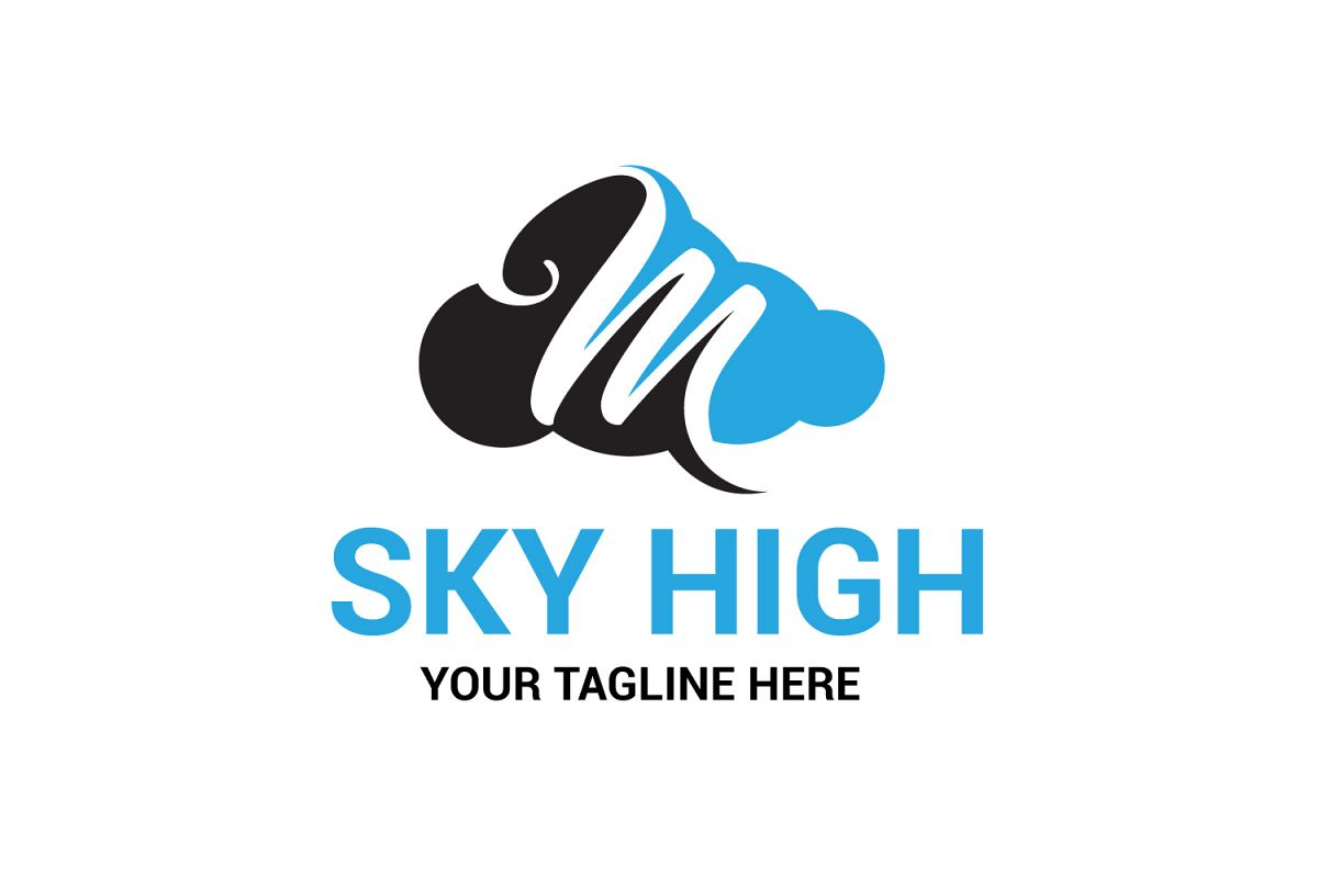 M letter sky logo example image 1