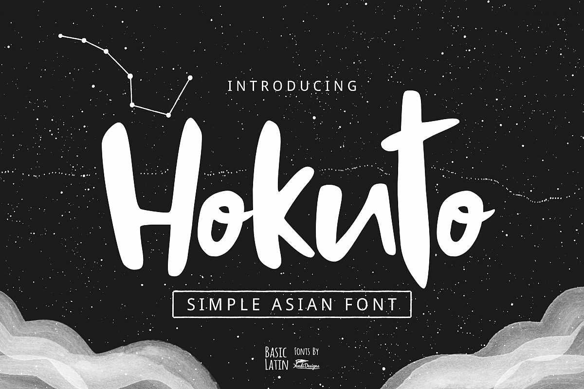 Hokuto Asian Font example image 1