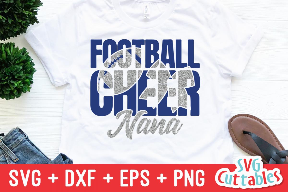 Cheer Nana | Football Mom | SVG Cut File example image 1