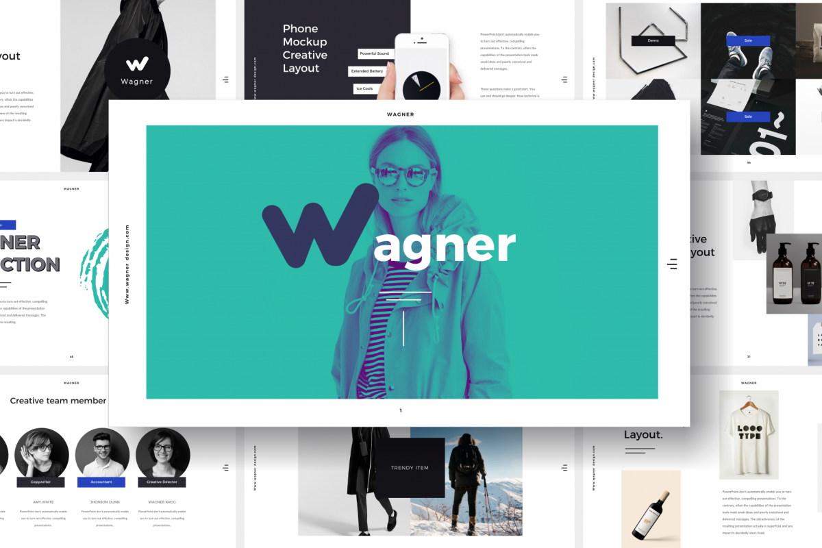 Wagner PowerPoint Template example image 1