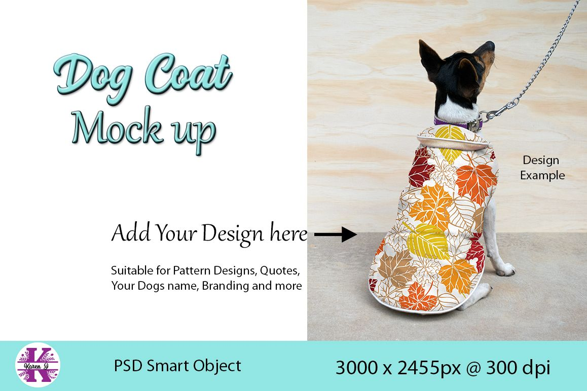 Dog Coat Mock Up PSD example image 1