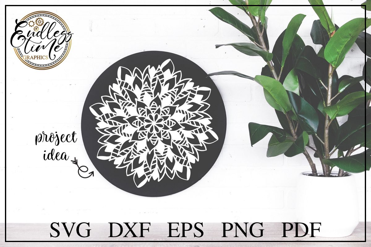 Mandala SVG Cut File - A Hand Drawn Zentangle Design example image 1