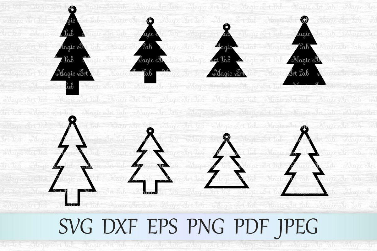 Christmas Svg Christmas Tree Svg Christmas Earrings Svg