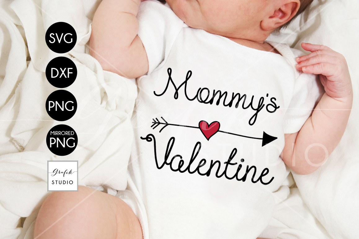 Mommys Valentine SVG File example image 1