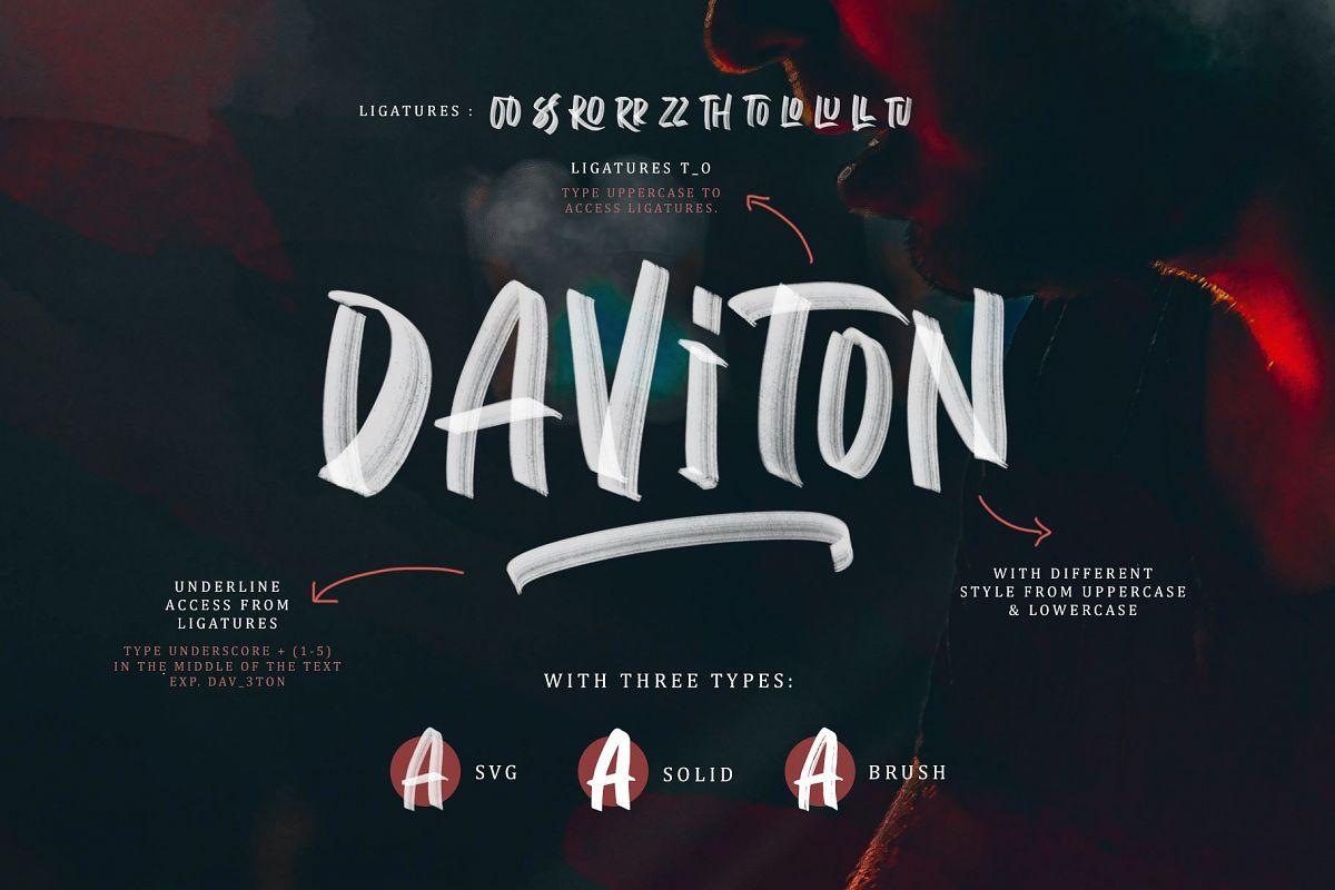 Daviton - SVG Font example image 1