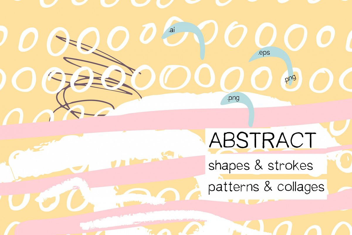 Abstract design elements. Collages & seamless patterns example image 1