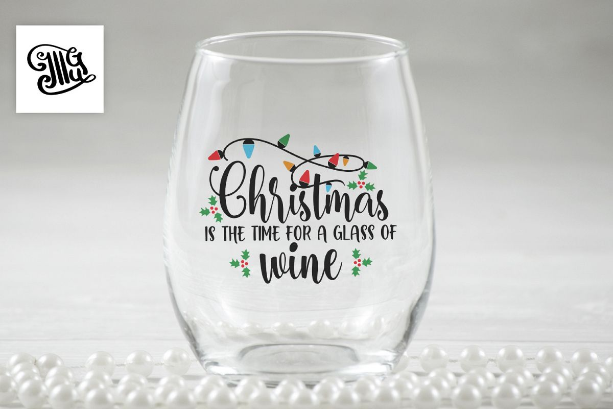Christmas is the time for a glass of wine - Christmas wine example image 1