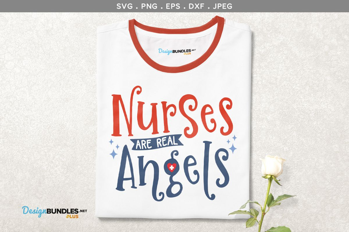 photo about Angels Printable Schedule referred to as Nurses are genuine angels - svg, printable