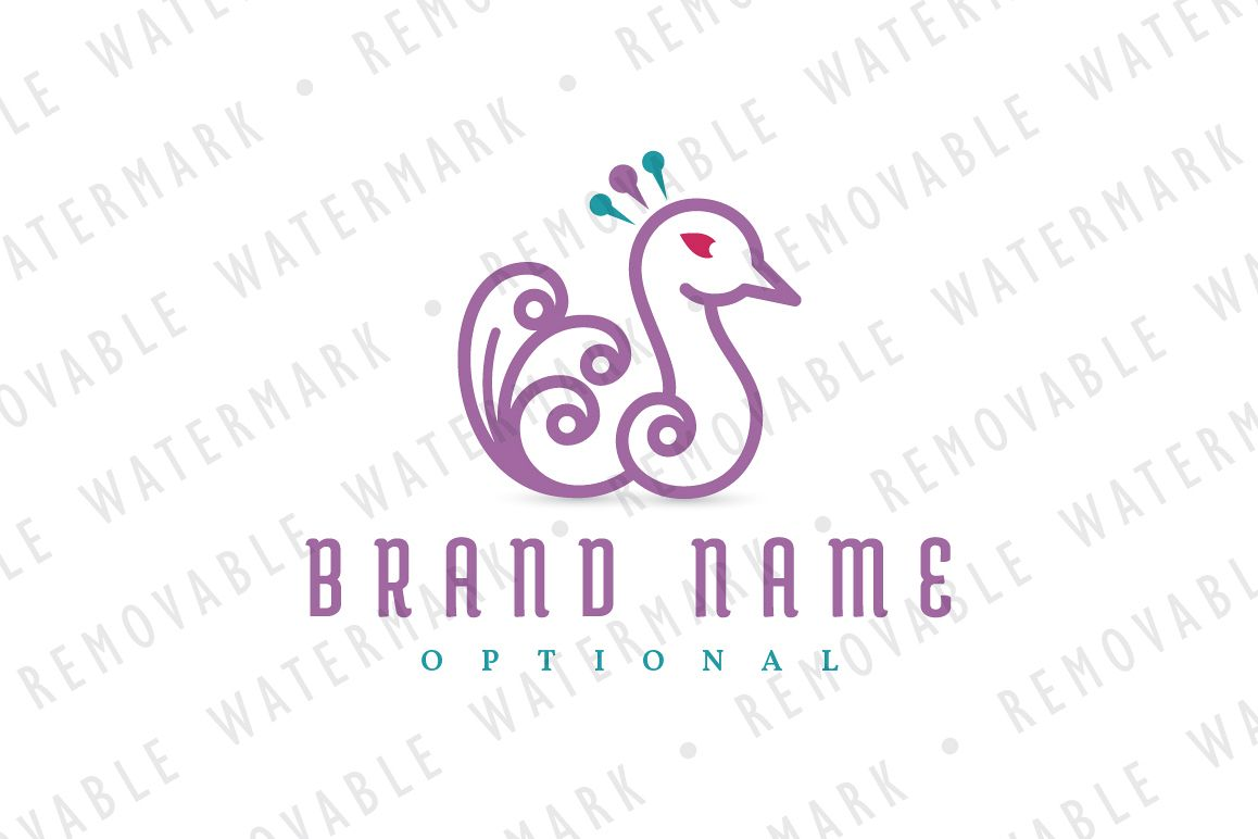 Peafowl Feathers Logo example image 1