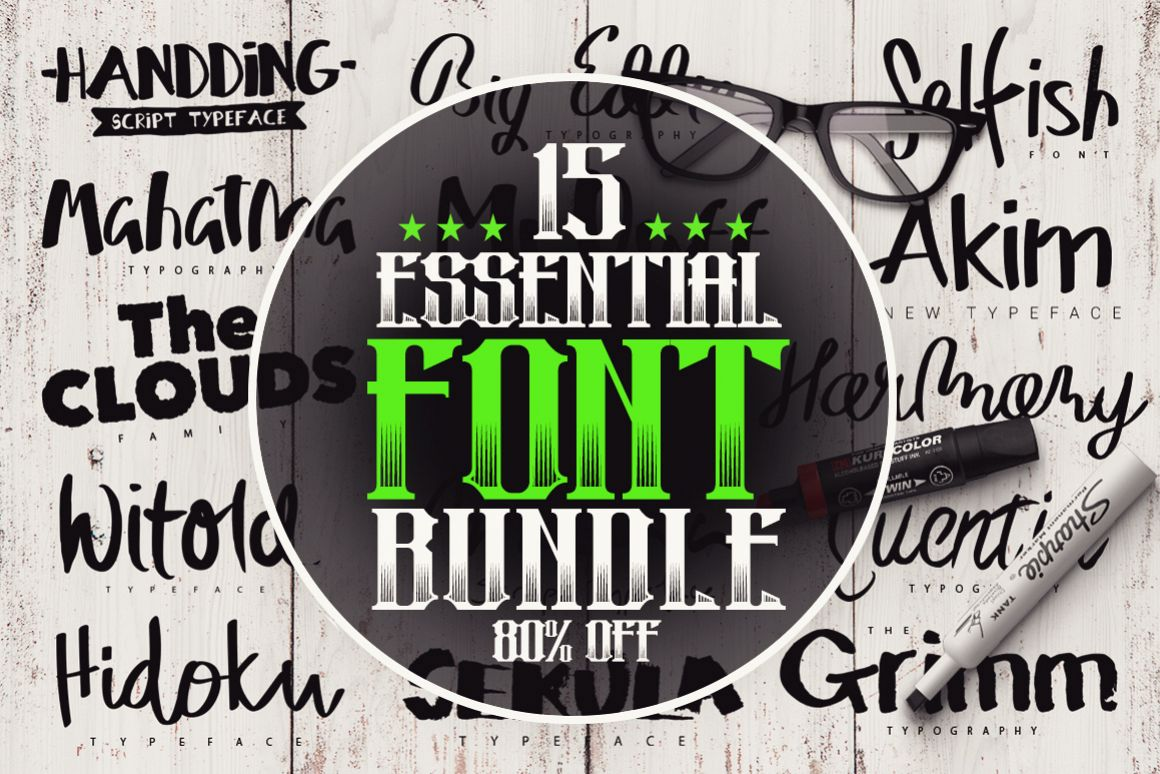 15 Essential Font Bundle example image 1