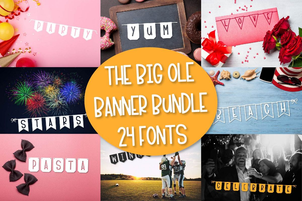 The Big Ole Banner Bundle 24 Fonts example image 1