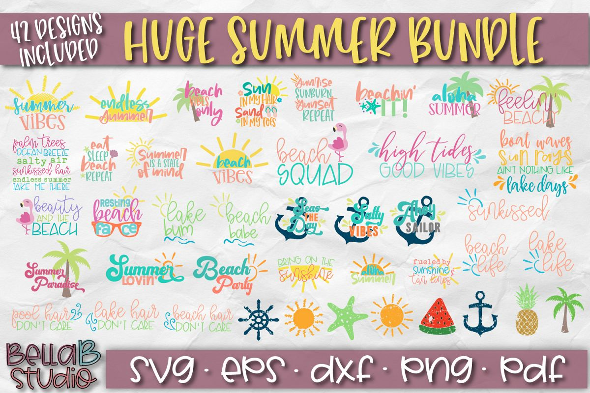 Summer SVG Bundle, Huge Summer SVG Bundle