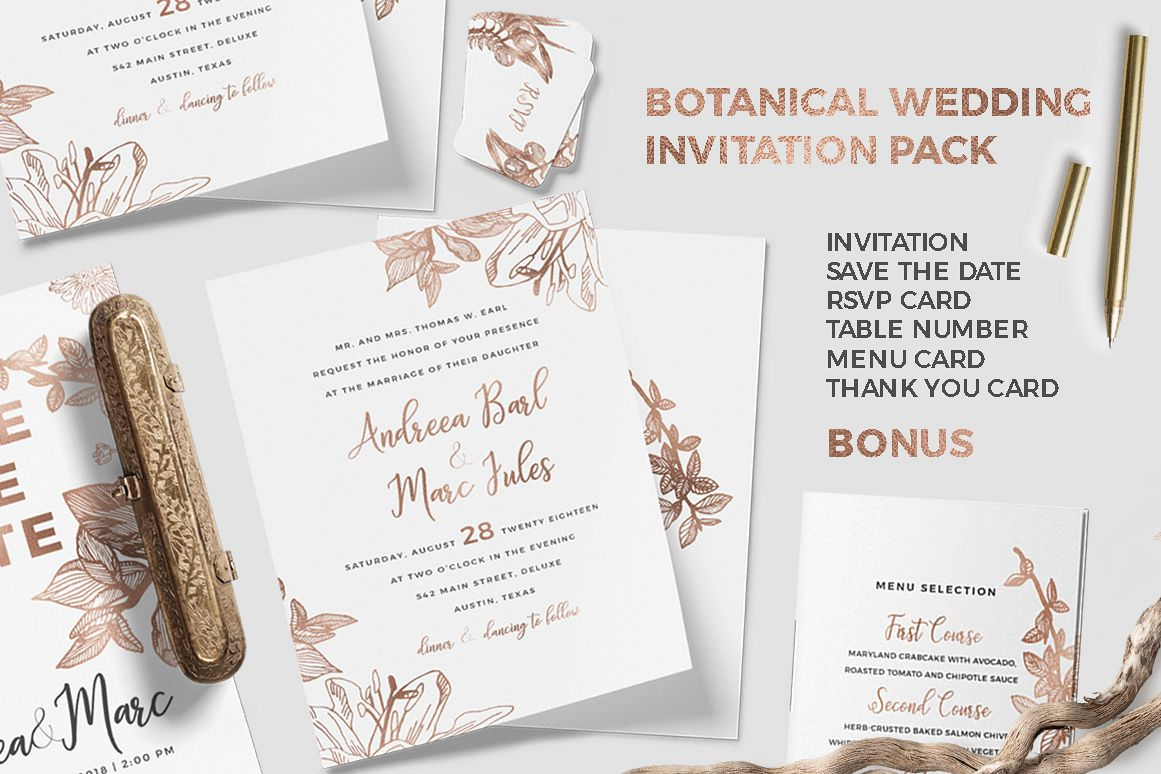 Botanical wedding invitation pack botanical wedding invitation pack example image 1 filmwisefo