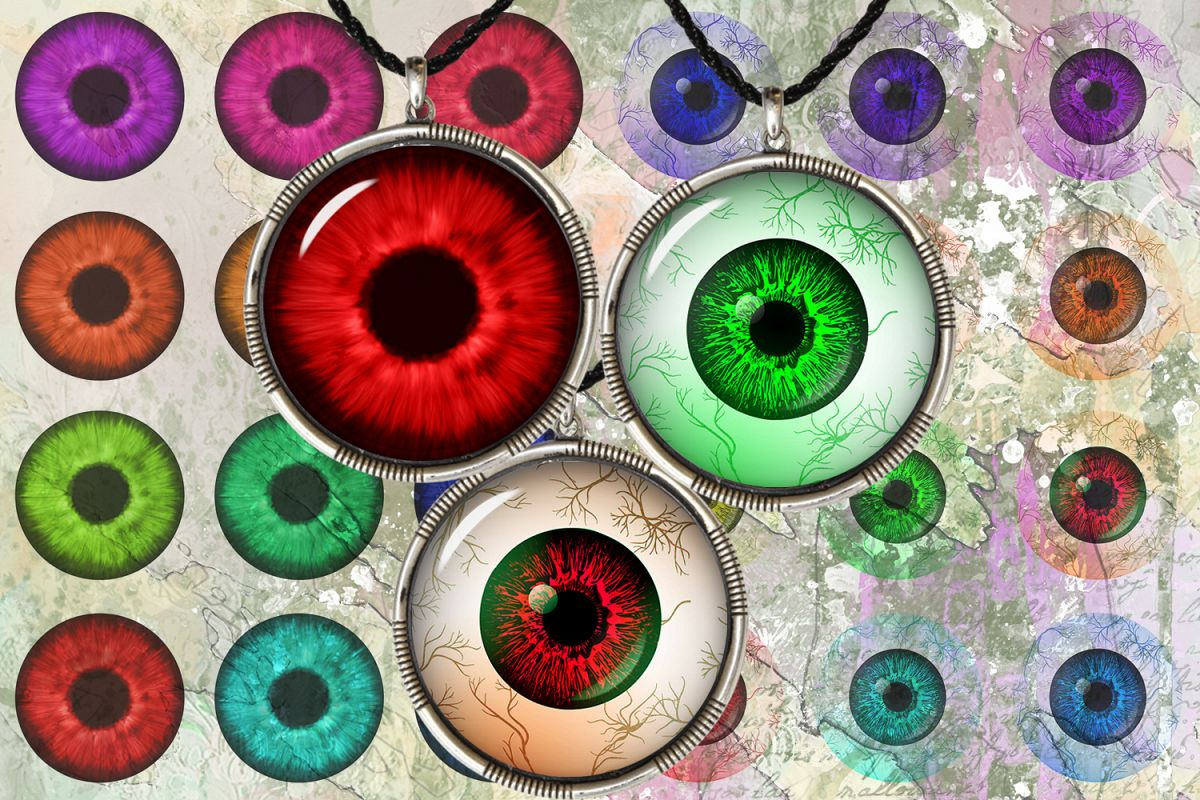 image about Eyes Printable named Eyes Printable Sheet,Eyes Electronic Cabochon,Eyes Pendants