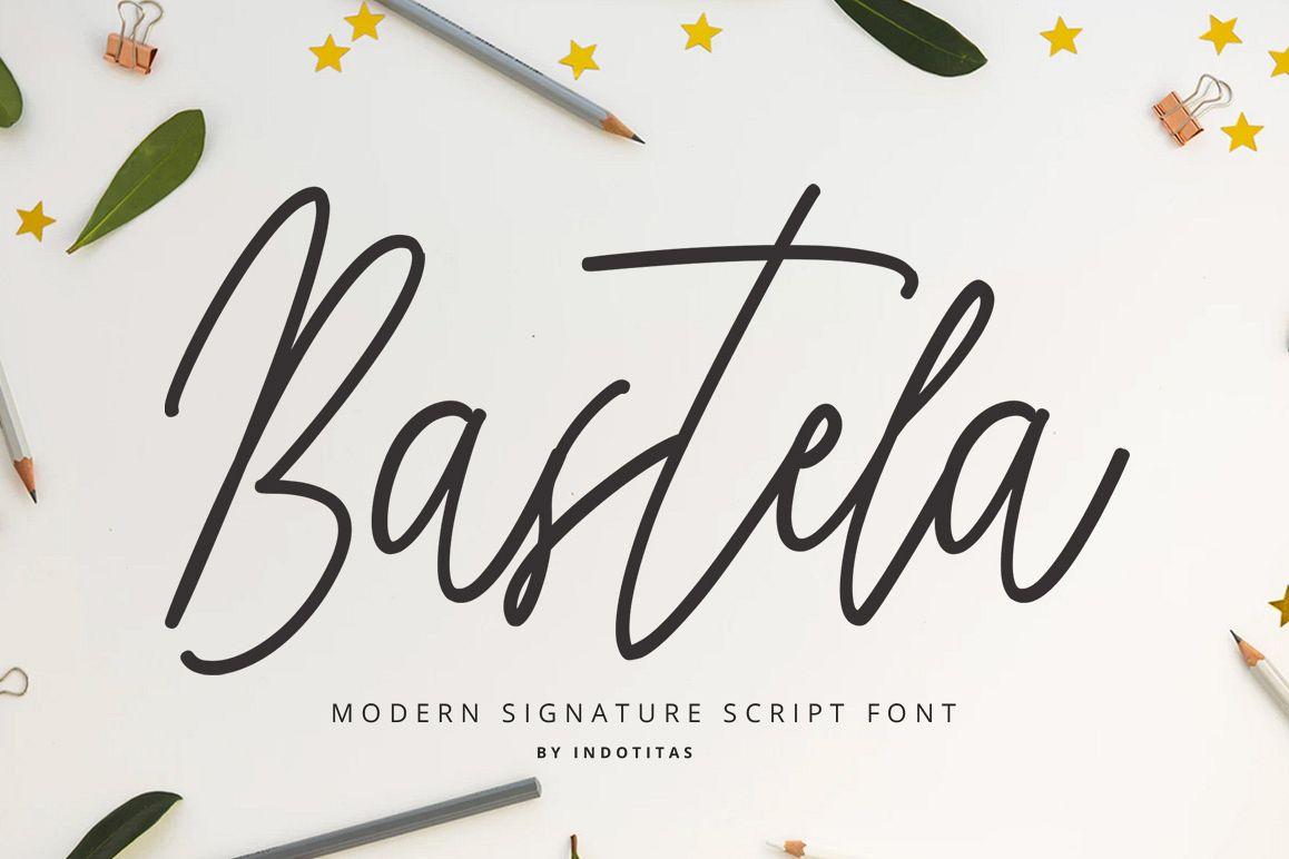 Bastela Signature Font example image 1