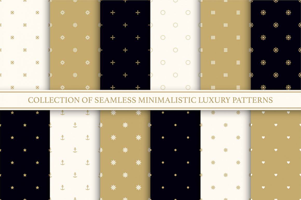 Vector seamless minimal patterns example image 1