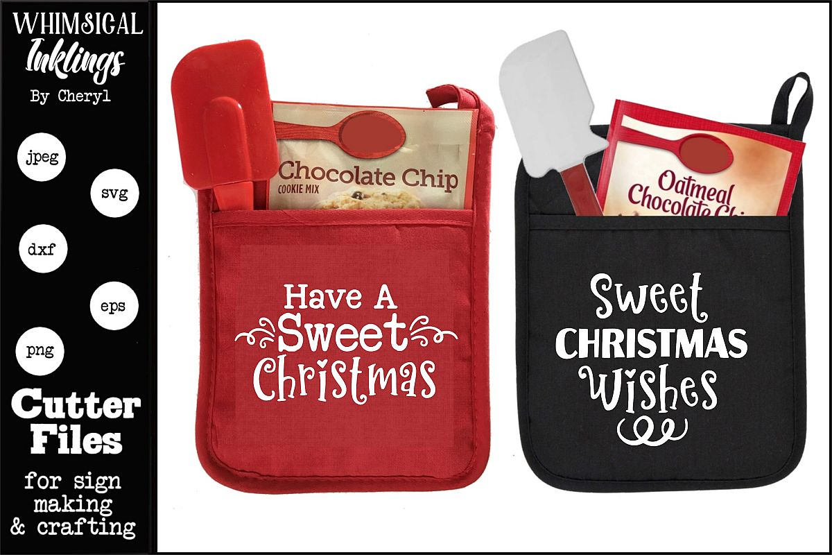Have A Sweet Christmas-Pot Holder SVGS example image 1