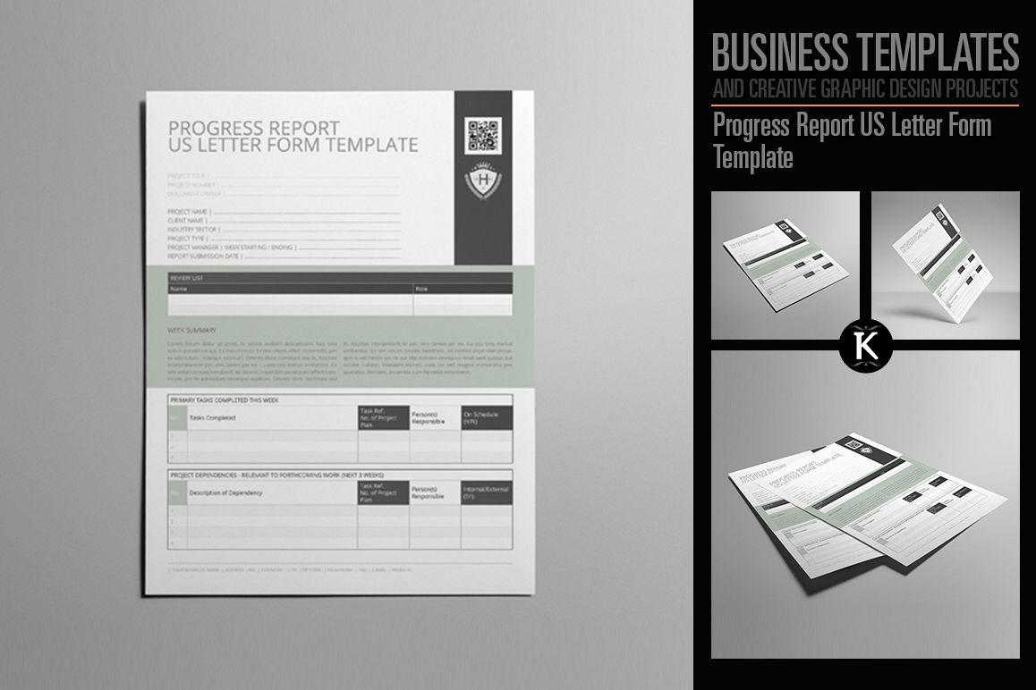 Progress Report US Letter Form Template example image 1