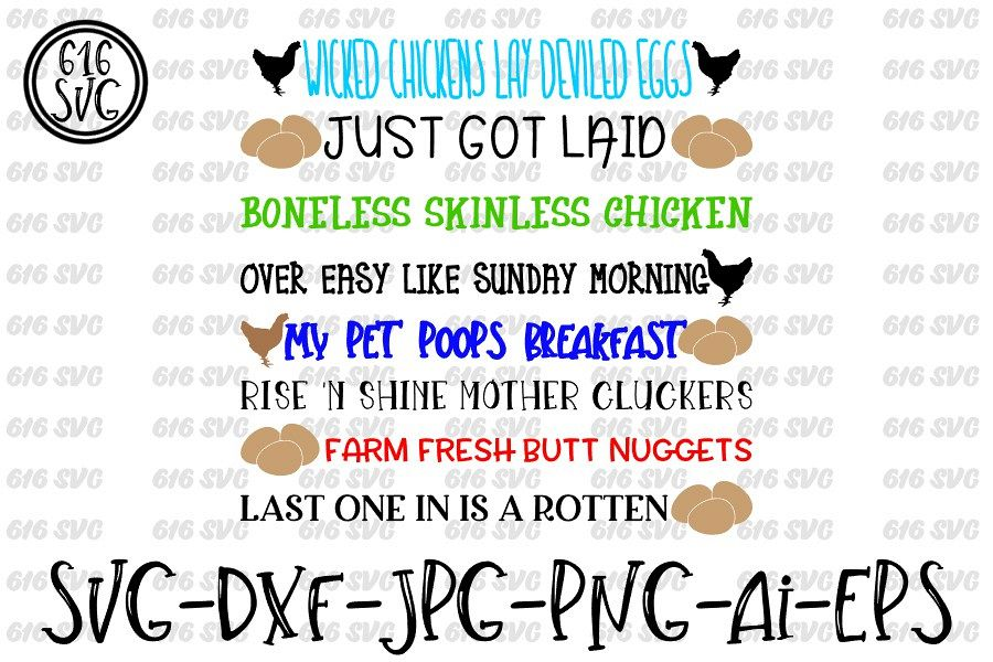 Egg Container Sayings SVG, DXF, Ai, PNG example image 1