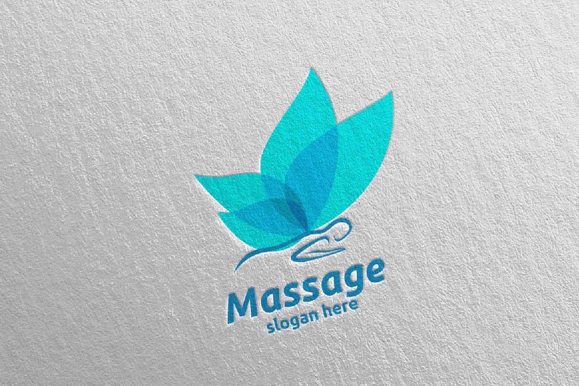Massage Logo Design 15 example image 1