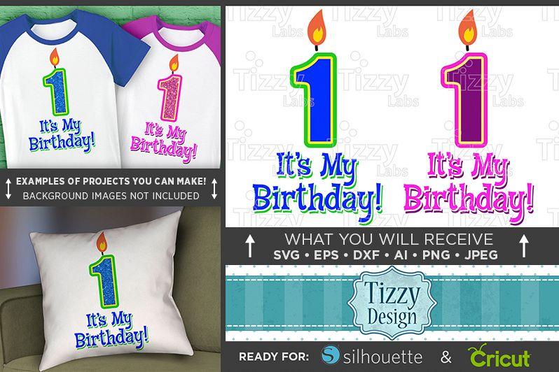 1st Birthday SVG - Its My Birthday SVG - Kids Shirt - 1028 example image 1