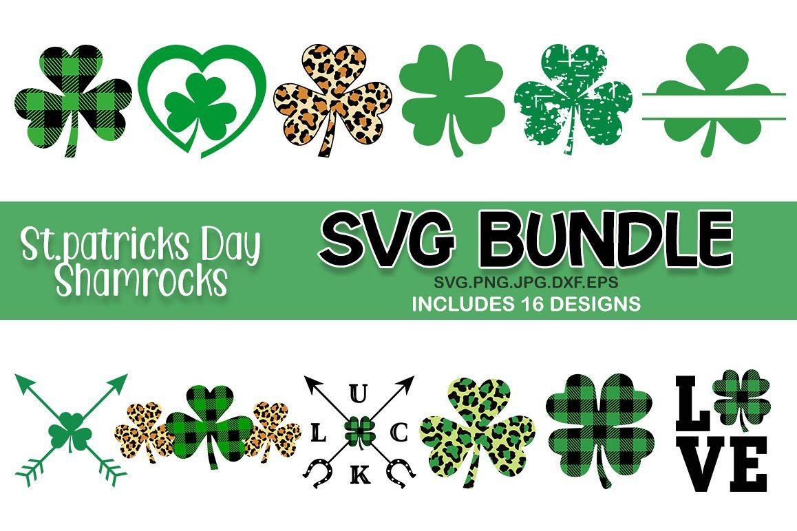 St Patrick's day shamrocks svg bundle. Shamrocks SVG example image 1