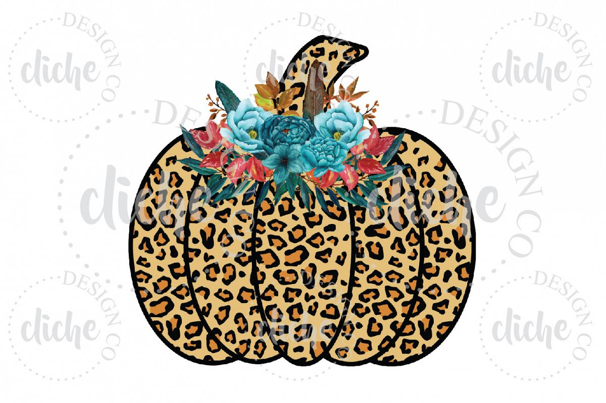 Leopard Pumpkin Sublimation Design example image 1