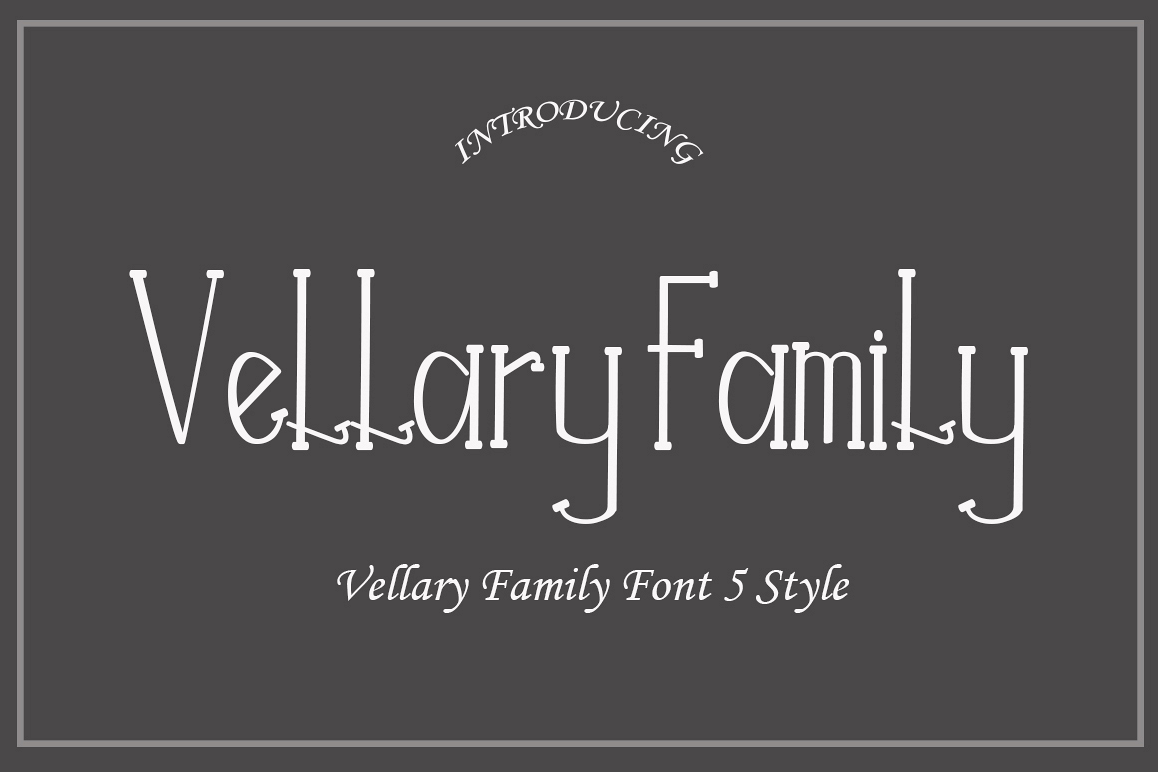 Vellary Family Font example image 1