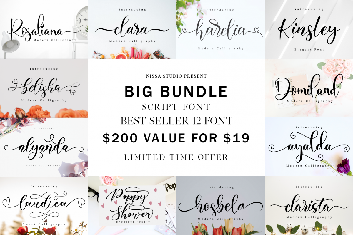 Spectacular Fonts Bundle example image 1