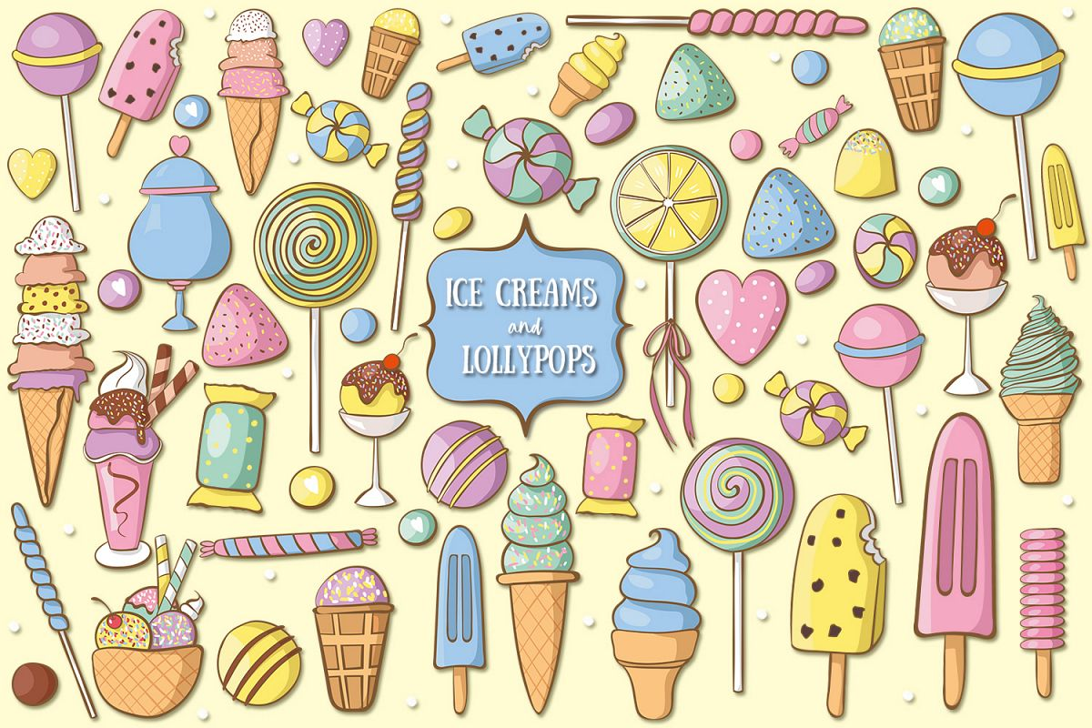 Ice Creams And Lollypops example image 1