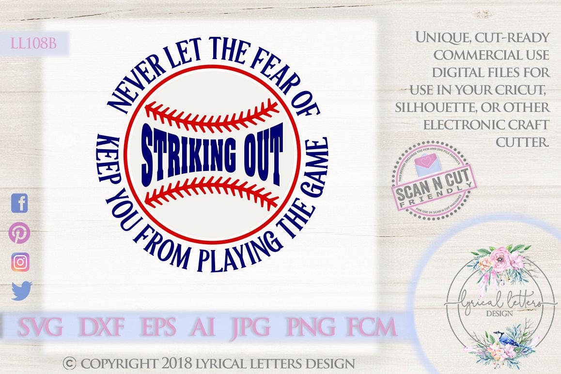 Babe Ruth Baseball Quote SVG DXF Cut File LL108B example image 1
