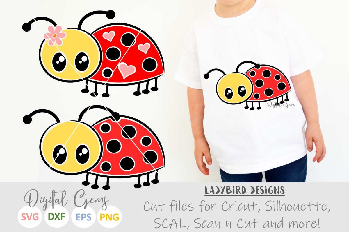 Mr and Mrs Ladybird SVG / EPS / DXF / PNG files example image 1