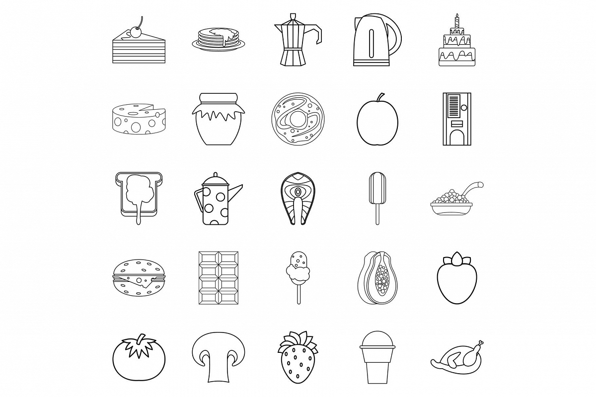 Supply icons set, outline style example image 1