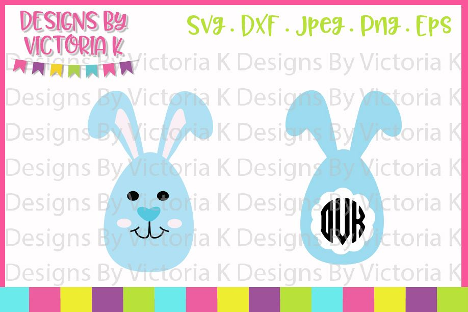 Easter Egg Bunnies, Easter Bunny, Boy Bunny, SVG, DXF, PNG example image 1