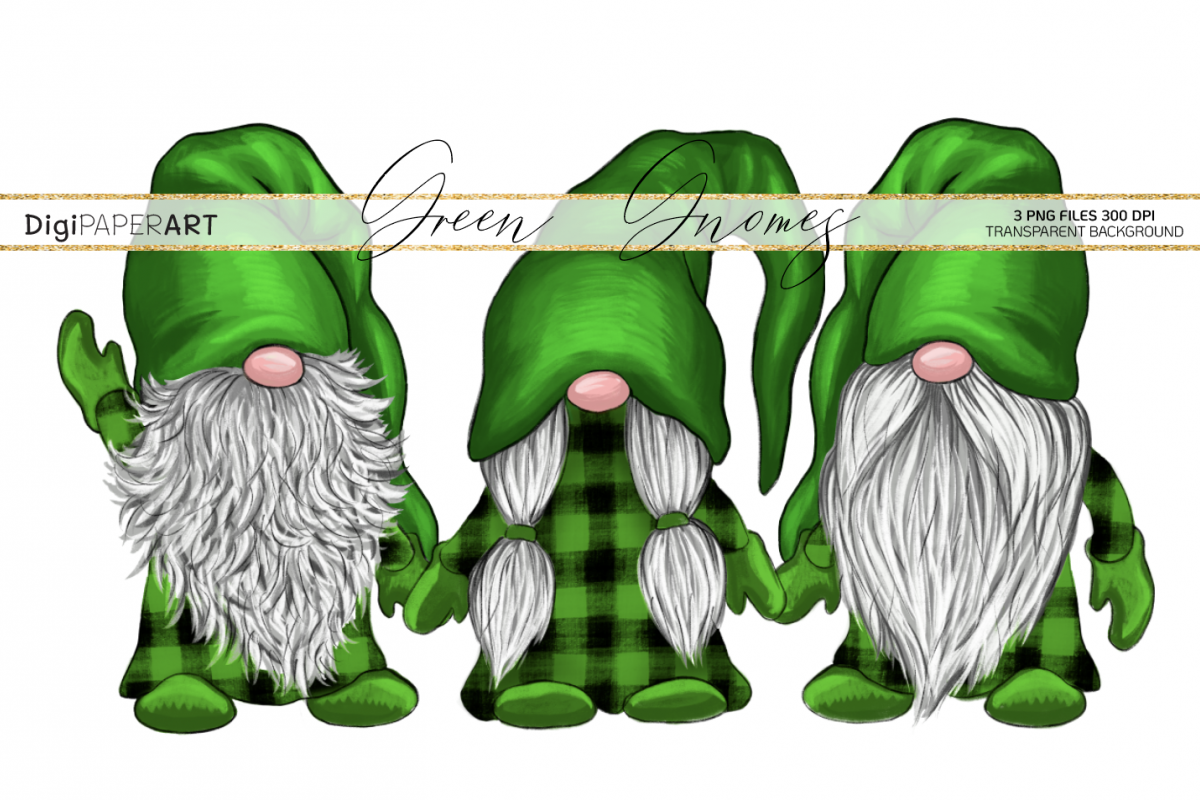 St. Patricks Day Gnome PNG, Gnome Sublimation Design example image 1
