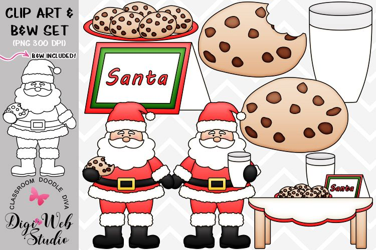 Clip Art / Illustrations - Cookies for Santa Claus example image 1