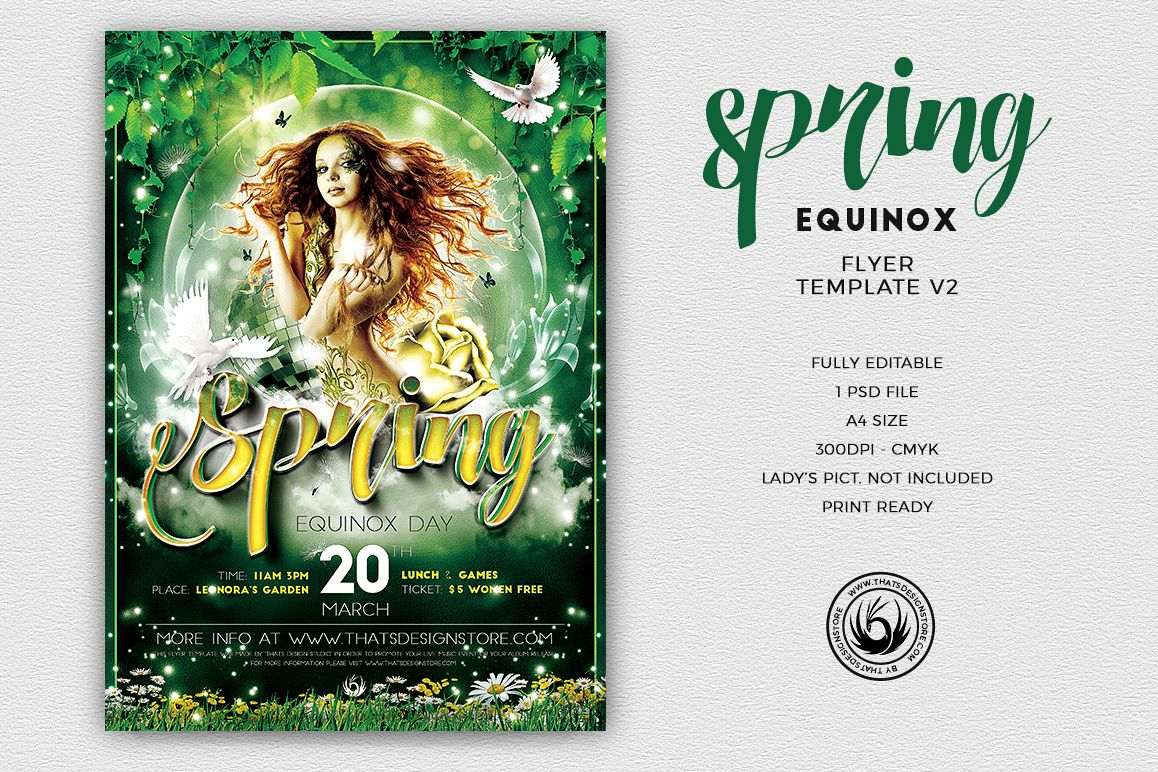Spring Equinox Flyer Template V2 example image 1