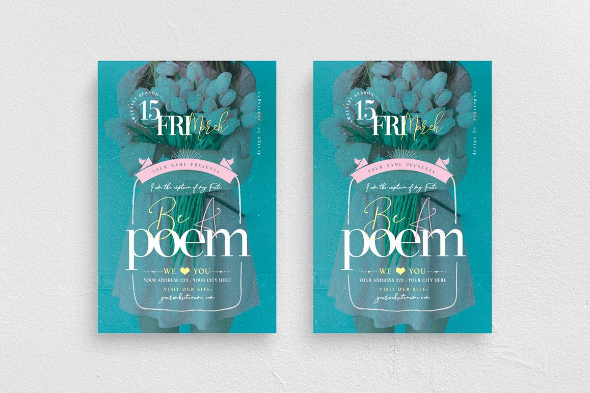 Be A Poem Flyer Template example image 1