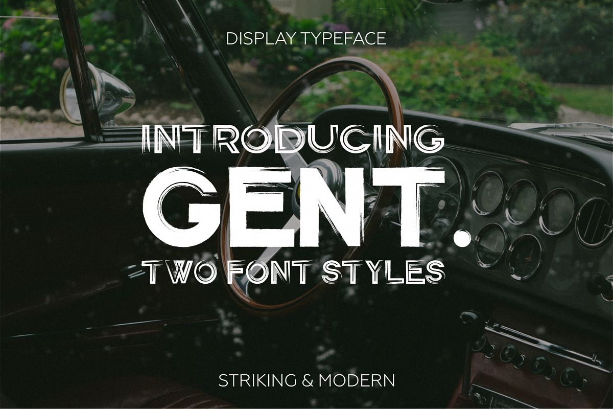Gent. Display brushed typeface. Striking and modern. example image 1