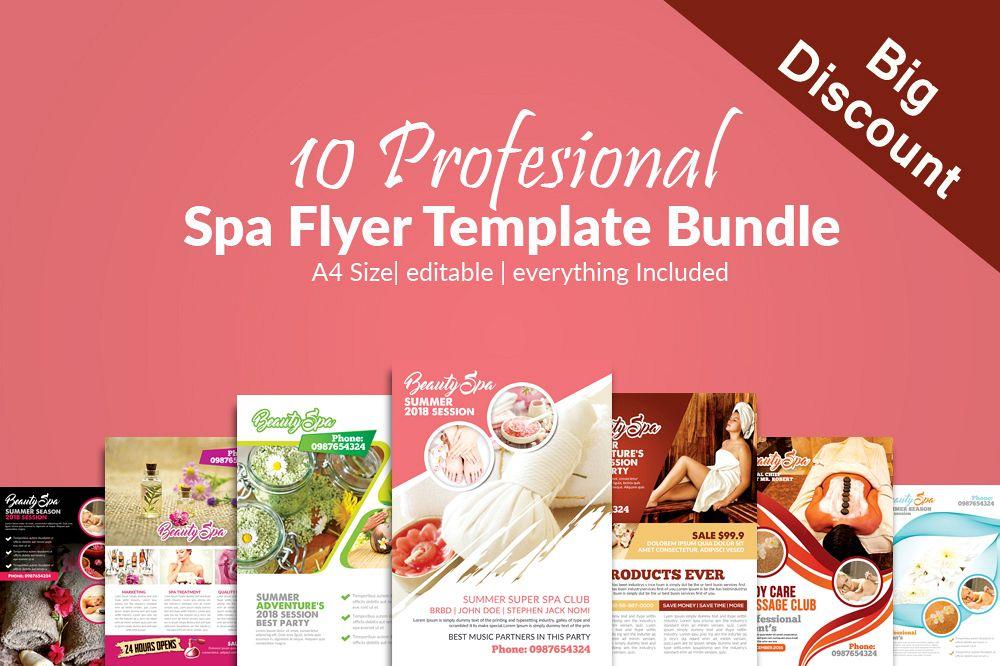 10 Spa & Skin Care Centre Flyer Bundle example image 1