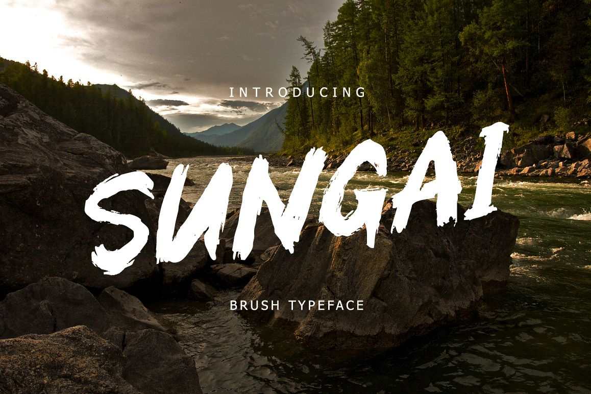 Sungai Brush Typeface example image 1