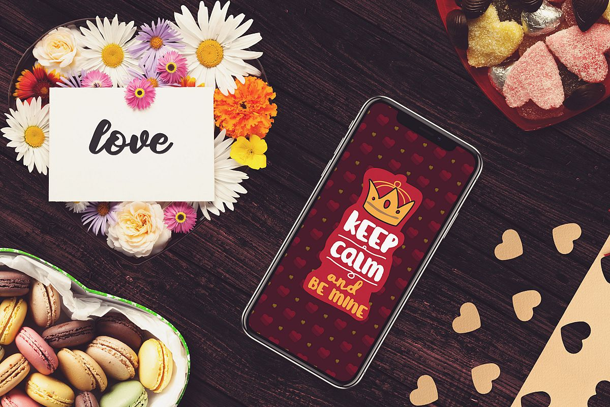 Valentine Iphone X Screen Mock-up #3 example image 1