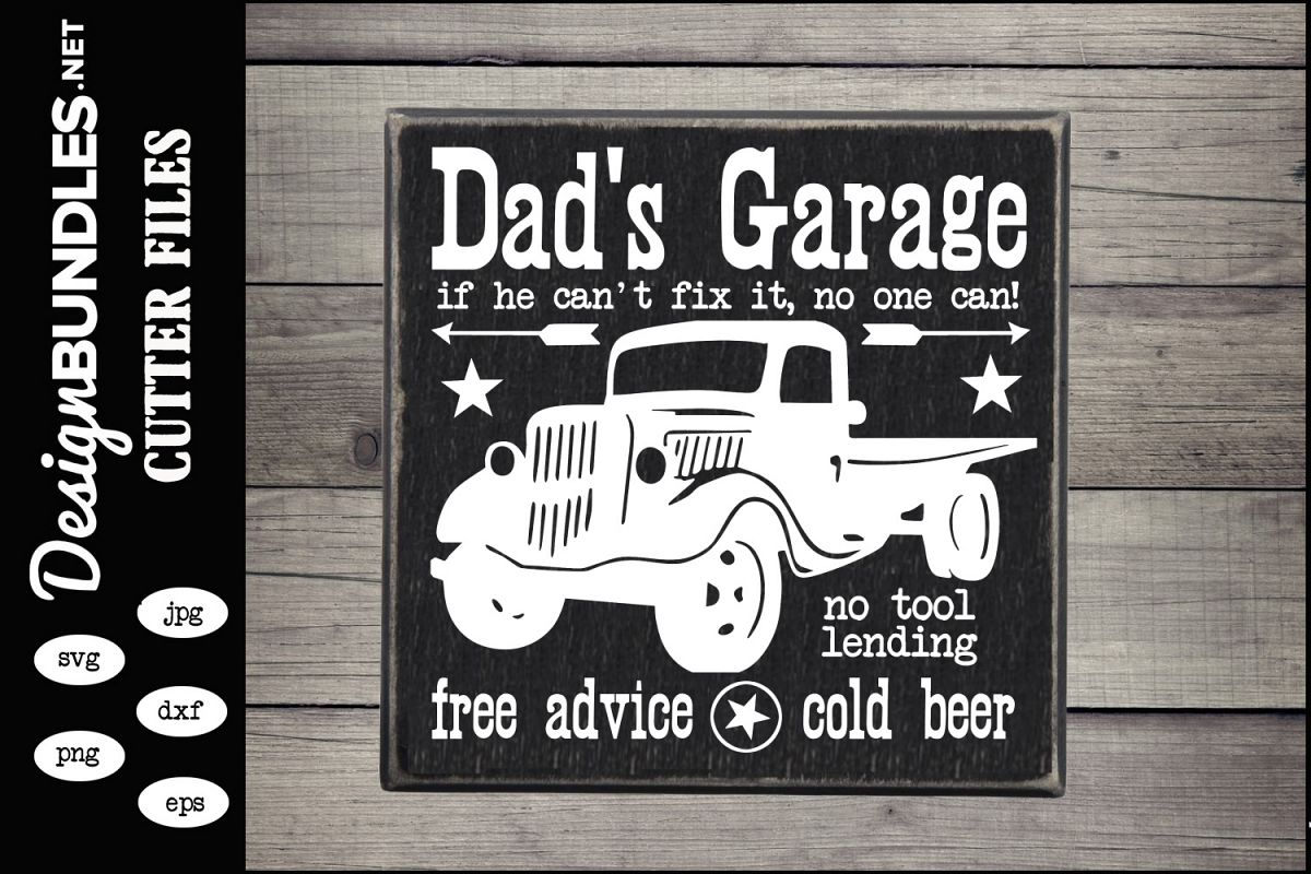Dads Garage SVG example image 1