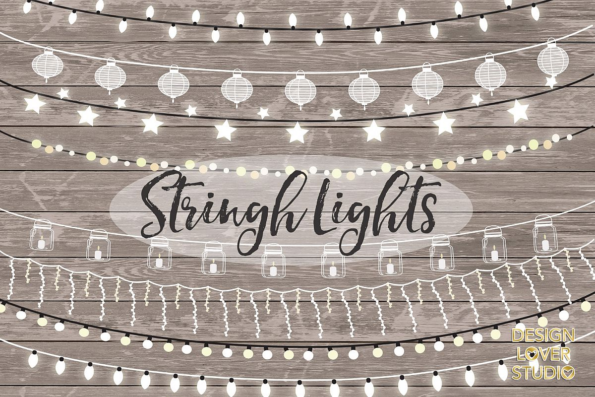 Vector lights clipart, String Lights Clipart example image 1